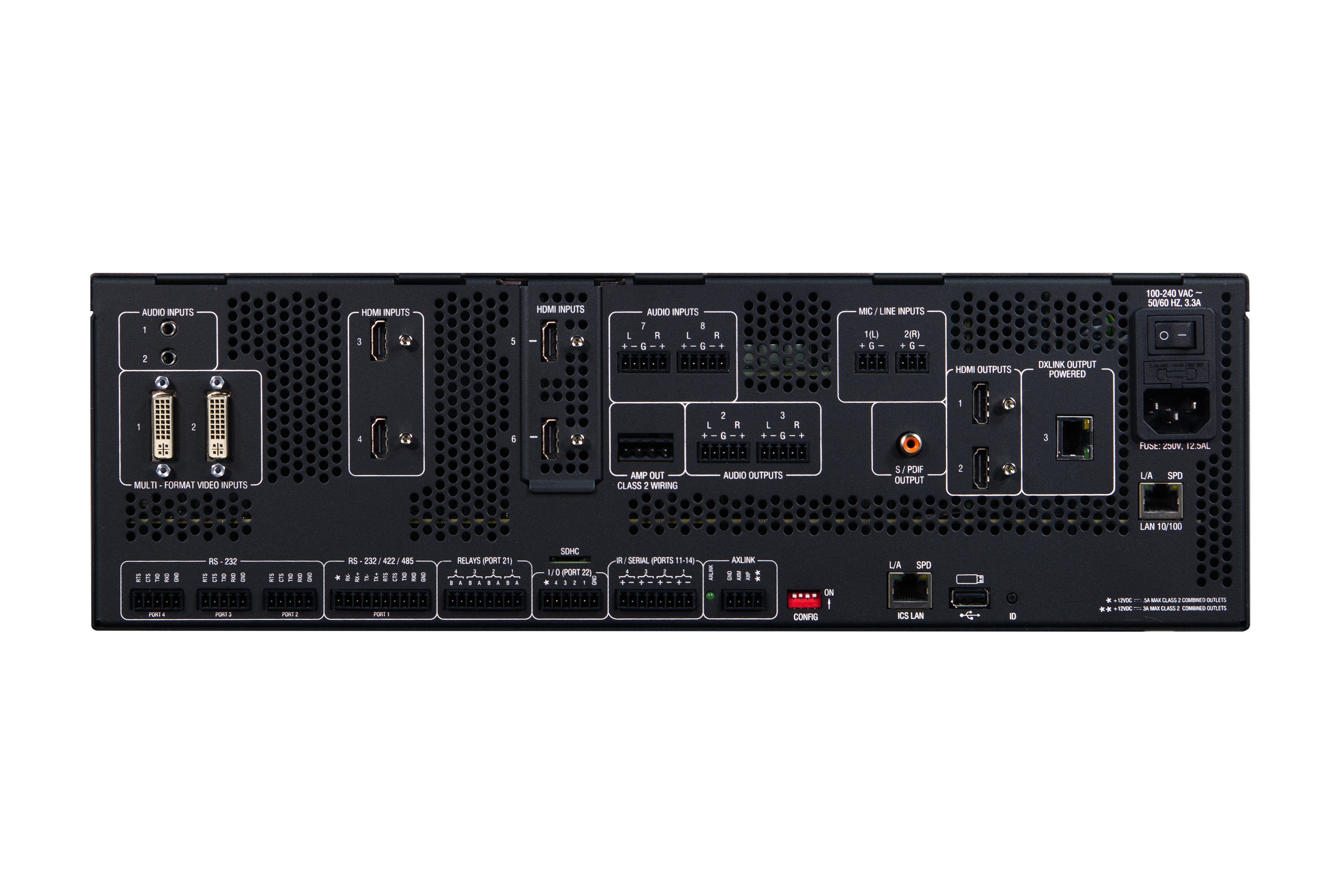 DVX-2250HD-SP - Rear
