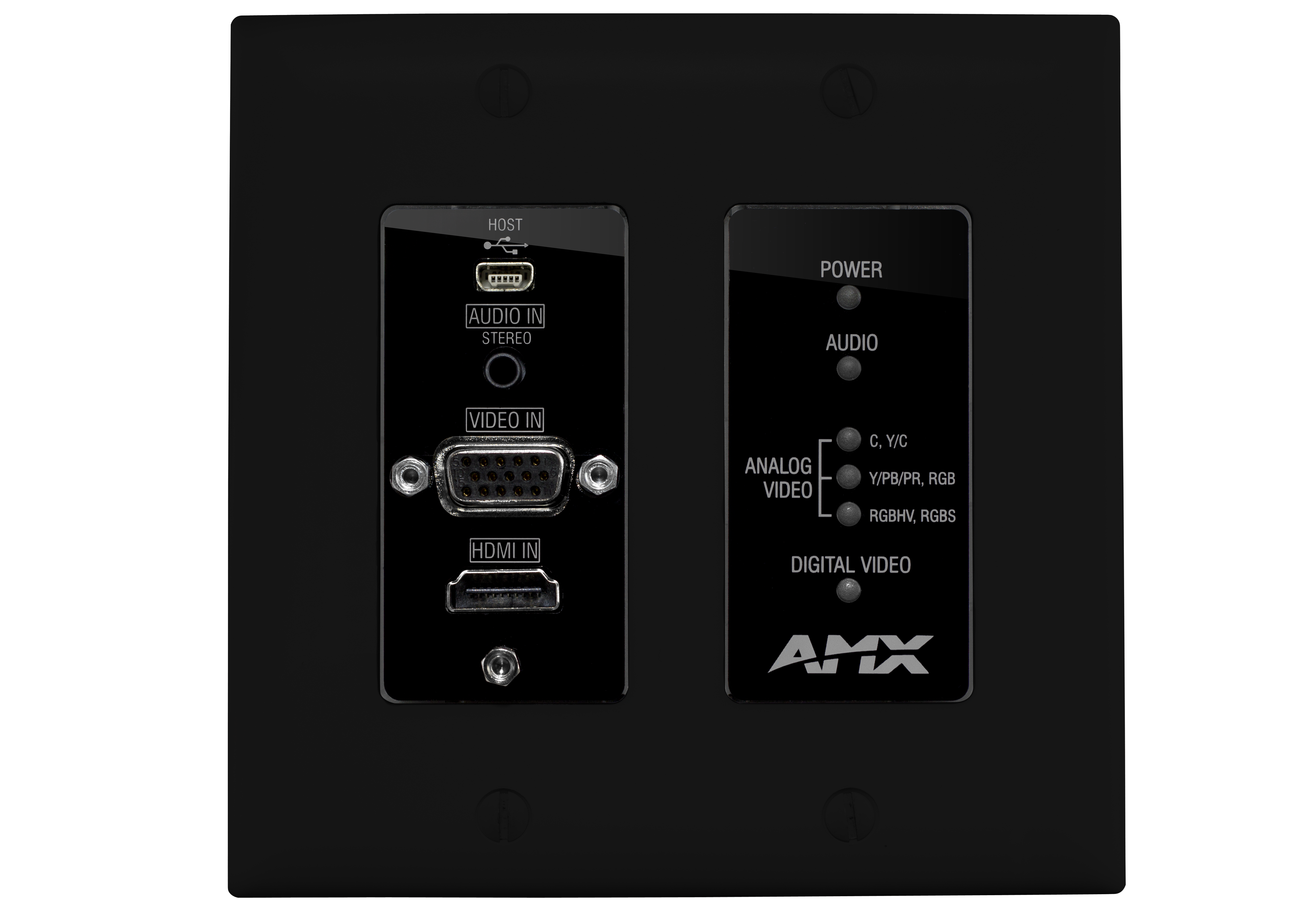 DX-TX-DWP - Black Front Straight On (Decor Style Cover Shown)